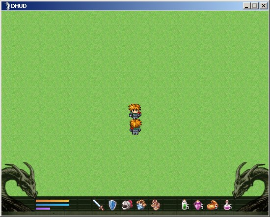 Screenshot do script dragon hud para RPG Maker VX