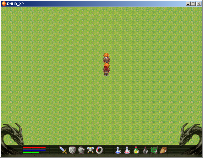 Screenshot do script dragon hud para RPG Maker XP